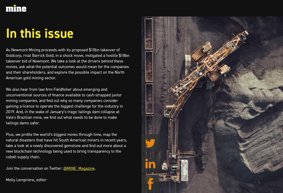 In this issue - Mine Magazine | Issue 79 | April 2019