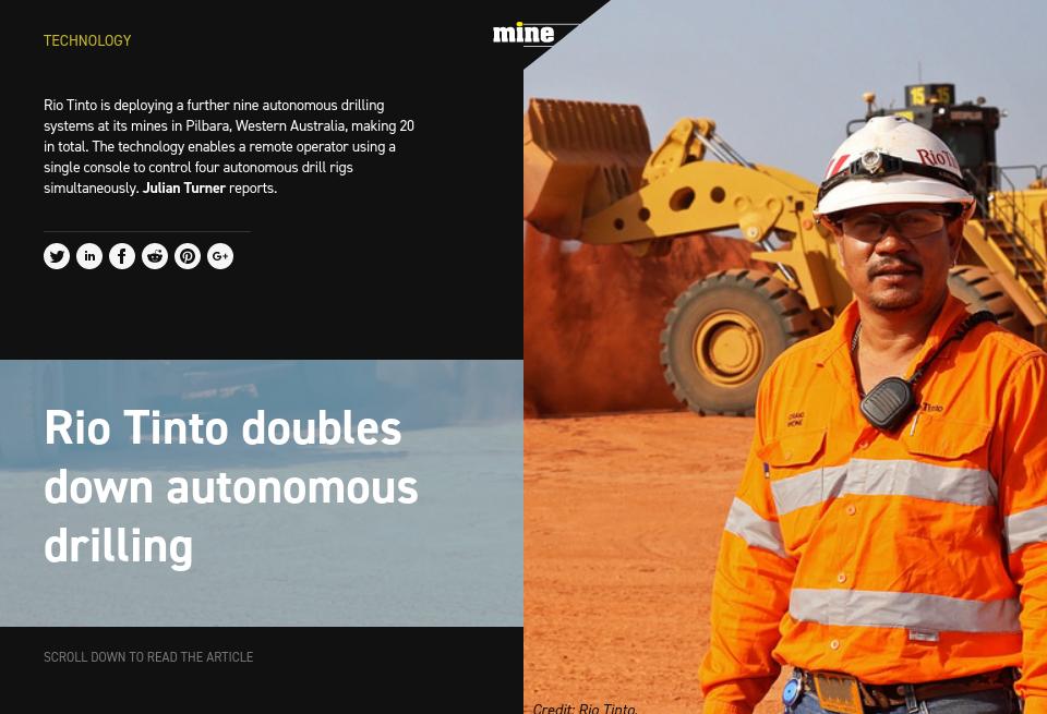 Rio Tinto doubles down autonomous drilling - Mine Australia Magazine