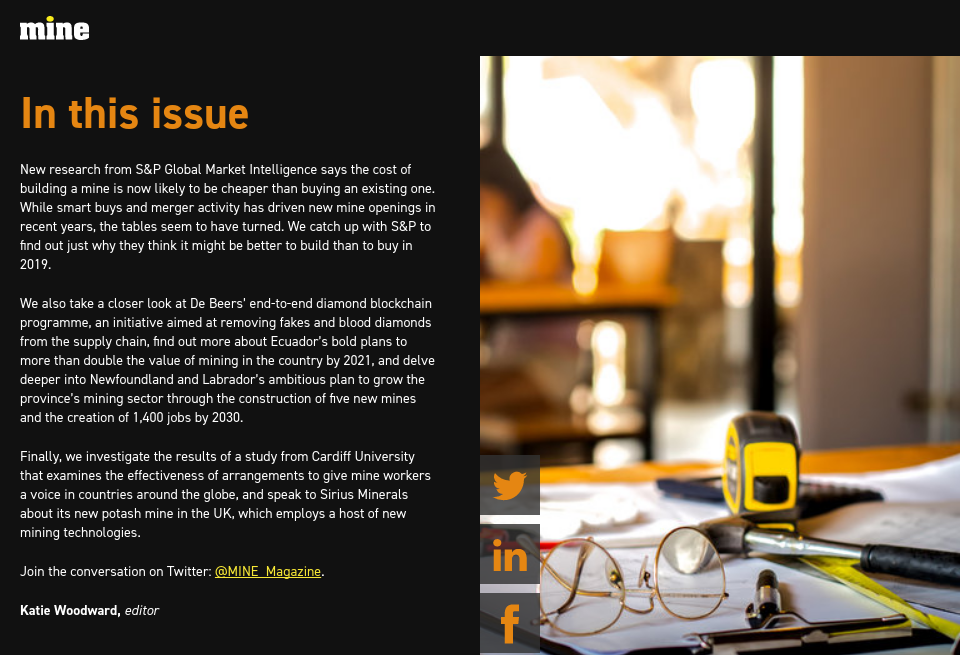 In this issue - Mine Magazine | Issue 78 | March 2019