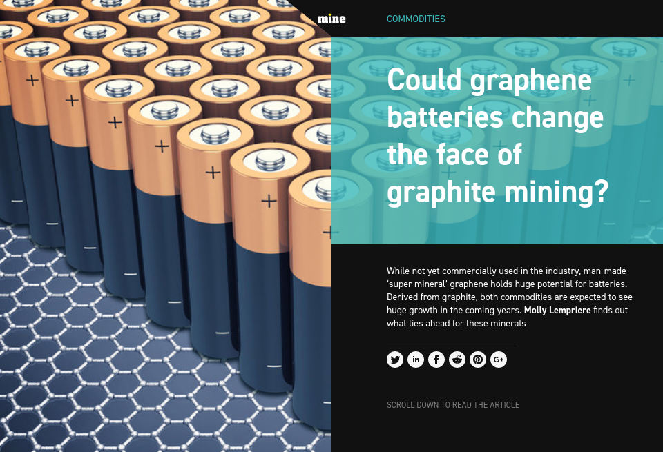 Could graphene batteries change the face of graphite mining